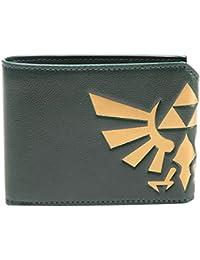Bioworld NINTENDO Legend of Zelda Hyrule Royal Crest Bi-Fold Wallet Porte-monnaie, 17 cm, Vert (Green)