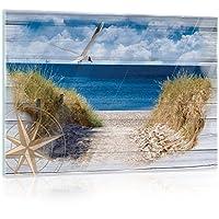 Wandbilder Glasbilder Druck auf Glas 120x60 Strand Weg Landschaft