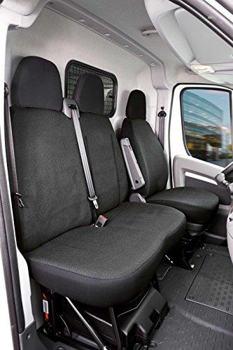 Walser 10537 Sitzbezüge für  Ducato Einzelsitz und Doppelbank vorne aus Stoff ab Baujahr 06/2014-heute