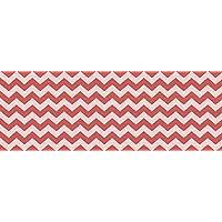 VINILIKO Alfombra de vinilo, Rojo y Blanco, 50x140 cm