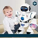 Altsommer Elektro Tanzen Roboter Kinder Spielzeug,RC Roboter mit LED Bunte Licht,Spielt Coole Musik,Zufälliges Gehen Intelligenter Mini-Roboter für Jungen,Mädchen,Guten Geschenke (A)