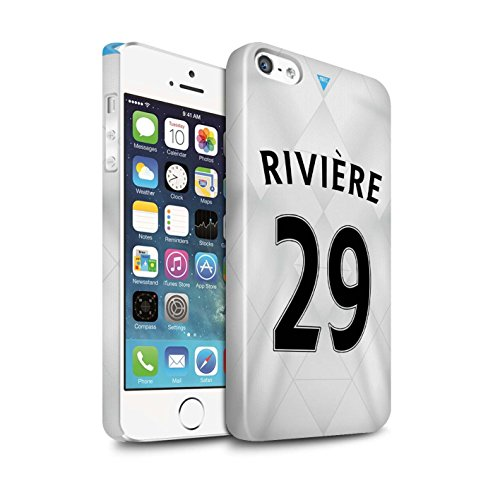 Offiziell Newcastle United FC Hülle / Glanz Snap-On Case für Apple iPhone 5/5S / Pack 29pcs Muster / NUFC Trikot Away 15/16 Kollektion Rivière