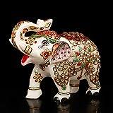 Regalos y decoración de la Craftvatika figura de Lucky elefante mármol piedra con forma de elefante Estatua Feng Shui diseño animal art