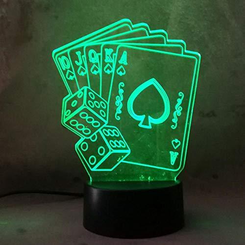 ZJFHL 3D Optische Illusions-Lampen LED Karte 7 Farben Touch-Schalter Ändern Nachtlicht Für Schlafzimmer Home Decoration Hochzeit Geburtstag Weihnachten Valentine Geschenk (Karten Star Wars Valentine)