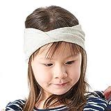 CHARM Casualbox | Bio Baumwolle Stirnband Kinder Jungs Mädchen Kinder Chemo Hut Weich Umweltfreundlich Cremefarben