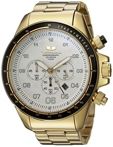 Vestal 'ZR3' Quartz Stainless Steel Casual Watch, Color Gold-Toned (Model: ZR3038)