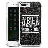 DeinDesign Apple iPhone 8 Plus Bumper Hülle transparent Bumper Case Schutzhülle Bier Beer Bratwurst