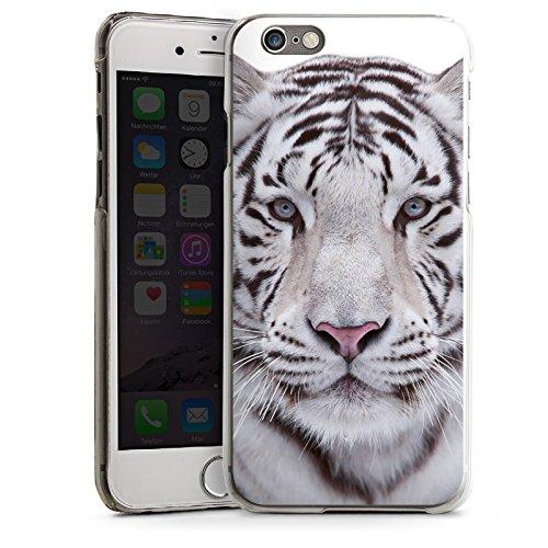 Apple iPhone 5s Housse étui coque protection Tigre des neiges Blanc Blanc CasDur transparent