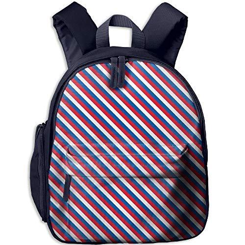 Nigmfgvnr American Stripes Kinder Cool Daypack für Summer Camp Navy Einheitsgröße -