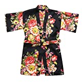 ♣ Tianya - Fancy Floral Silk Satin Kimono Bademäntel Bademantel Nachtwäsche Kleidung für Kleinkind Baby Kid Girls