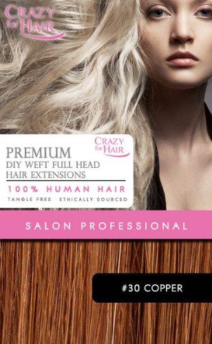 Premium Extensions capillaires 100 % cheveux humains 35,5 cm