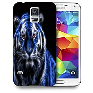 Snoogg Neon Tiger Printed Protective Phone Back Case Cover For Samsung S5 / S IIIII