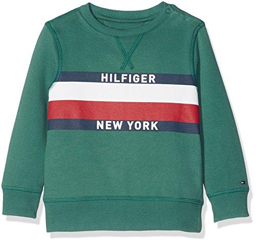 Tommy Hilfiger Jungen Sweatshirt Ame Hilfiger CN Hwk L/S, Blau (Pacific 305), 98 (Herstellergröße: 3)