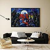 uhomate Superheld Spiderman Poster Vincent Van Gogh Starry Night Poster Home auf Leinwand, Jahrestag Geschenke Baby Kinderzimmer Decor Wohnzimmer Wanddekoration mit Teebaumöl, 8x10 inch