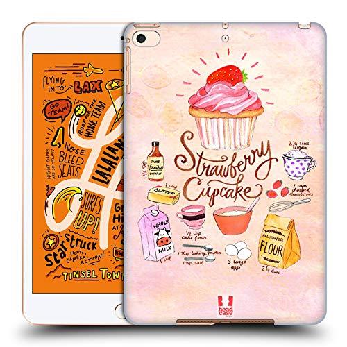 head case designs cupcake fragola ricette illustrate cover dura per parte posteriore compatibile con ipad mini (2019)