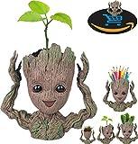 Prime Verkauf Tag Deals Woche Amazon 2018-creative Groot Pflanztopf Guardians Of The Galaxy Blumentopf Baby Groot Action Figuren Cute Modell Toy Stift Topf Bleistift Halter Best Geschenke für Kinder