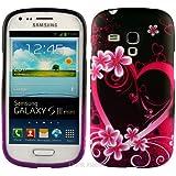 Samsung Galaxy S3 Mini i8190 TPU Gel Case - Rot Hearts Silikon Gel Case Schutz Hülle Etui Für Samsung Galaxy S3 Mini i8190 - thinkmobile