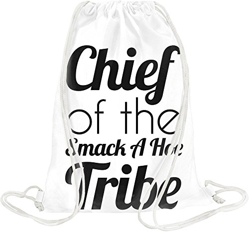 chief-of-the-smack-a-hoe-tribe-funny-slogan-drawstring-bag