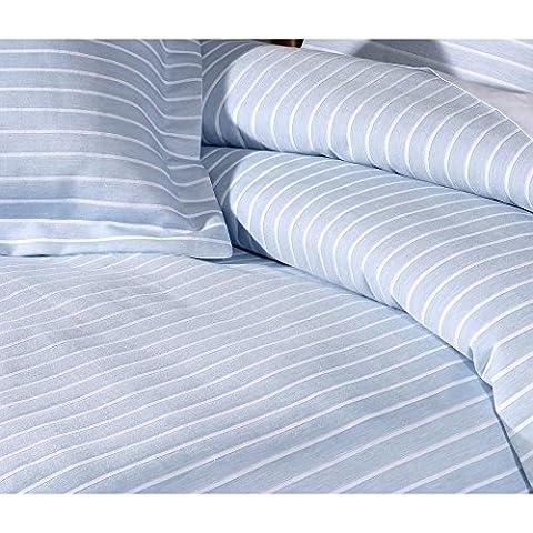 Stripes sky blue pure luxury cotton bedlinen pillowcase
