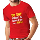 N4289 Männer T-Shirt Do not Interrupt (XX-Large Rot Weiß)