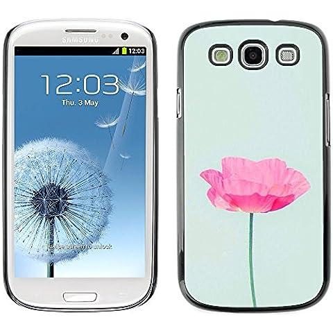Poppy Sun Flower Spring Nature - Aluminum Metal & plastica dura Phone caso - nero - Samsung Galaxy