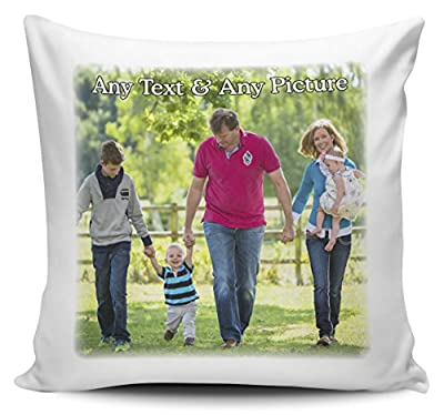 Personalised Any Name & Any Picture Cushion Cover