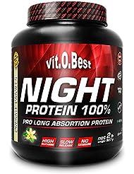 Vit-O-Best Night Protein 100%, Proteínas, Sabor a Vainilla - 907 gr