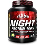 Vit-O-Best Night Protein 100%, Proteínas, Sabor a Chocolate - 907 gr