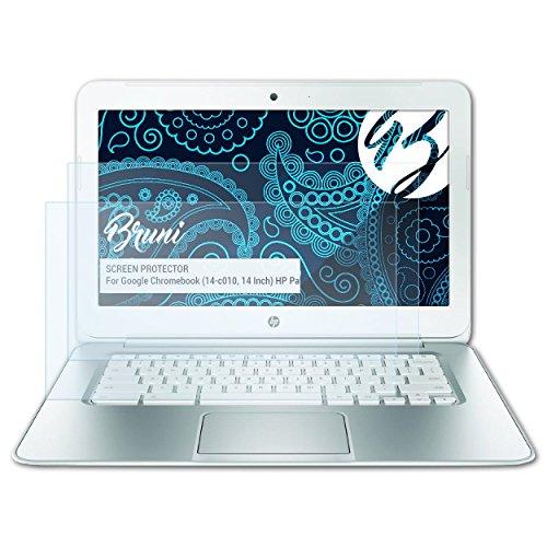 Bruni Schutzfolie für Google Chromebook (14-c010, 14 Inch) HP Pavilion Folie, glasklare Bildschirmschutzfolie (2X)