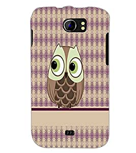 PrintDhaba Owl D-4291 Back Case Cover for MICROMAX A110 CANVAS 2 (Multi-Coloured)