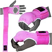 BOOM Prime Pink Damen Neopren Boxen Innen Gel-Handschuhe Fight Boxsack MMA Training Kn/öchelprotektor Bandagen Muay Thai Pad Kostenloser UK Versand