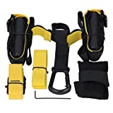 GHB Sangle de Musculation Suspension Training Sangle de Suspension jusqu'à 400 kg des kits à Domicile Piscine Gymnase, etc. Adulte Unisexe - Noir / Jaune