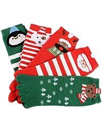 Stillshine Cinco Dedos Calcetines de Navidad, Childrens Baby Boy o niña y Adultos Cosy Cotton Socks Value Pack para niño pequeño (Niños (3-7 años))