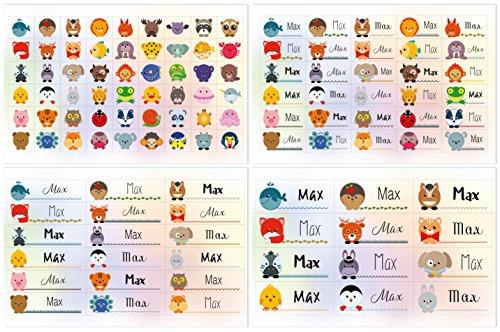 Kigima 114 Aufkleber Sticker Namens-Etiketten rechteckig Max Verschiedene Größen und Tiermotive (Pferd Dekorativen Geschenk-box)