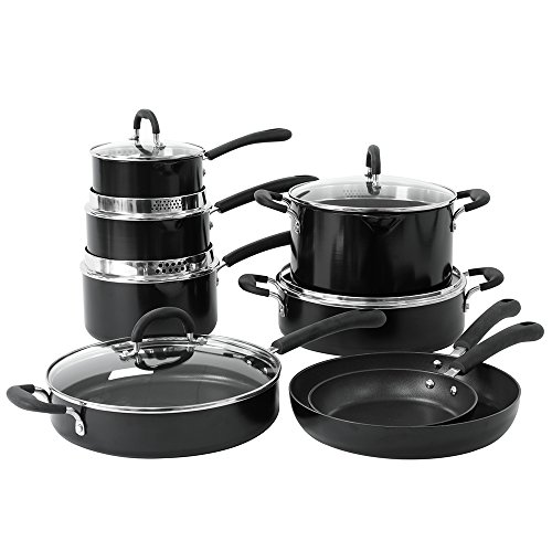 ProCook Gourmet Induction Non-Stick Strain & Pour Cookware Set 8 Piece
