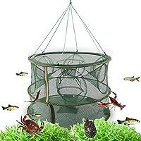 Fish net Doble Capa A Escala Completa De 15 Agujeros 70 Cm Jaula De Pesca Plegable Automática/Red De Pesca/Red De Camarón/Caja De Pesca/Red De Langosta
