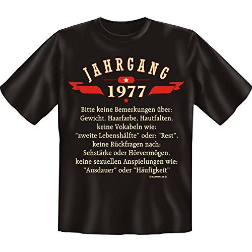 1977. Bitte keine Bemerkungen über… Jahrgang Set Goodmann ® Extrem lustiges Motivshirt Gr: Farbe: schwarz Schwarz