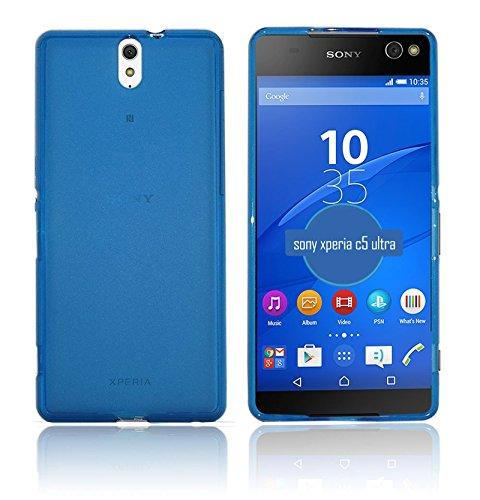 TBOC® Blau Gel TPU Hülle für Sony Xperia C5 Ultra E5506 E5553 Ultradünn Flexibel Silikonhülle