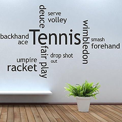 IClobber Racchetta da Tennis, Collage-Kit adesivo da parete adesivo in vinile