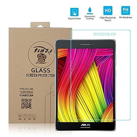 tinxi® Protection écran Asus ZenPad 8.0 Z380C 8 pouces Film de protection d'écran en verre trempé pour écran Asus ZenPad 8.0 Z380C 8 pouces protecteur optimal et ultra dur protecteur d'écran en verre trempé Transparent 2.5D