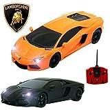 Comtechlogic offiziell lizenziert cm-2210 1:18 Lamborghini Aventador LP700-4 ferngesteuert RC Elektroauto - Bereit zum Rennen EP RTR - Orange