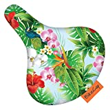 BikeCap Unisex's Tropical Flower Bike Seat Cover, Green, Large
