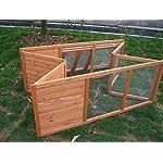 BUNNY BUSINESS Fully Folding Sheltered Rabbit Run Hutch, 48-inch 13