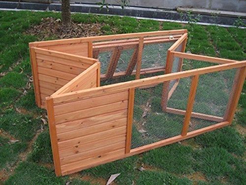 BUNNY BUSINESS Fully Folding Sheltered Rabbit Run Hutch, 48-inch 6