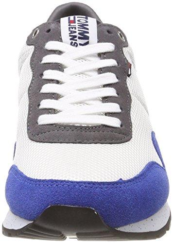 Hilfiger Denim Herren Tommy Jeans Lifestyle Sneaker Weiß (Rwb 020)