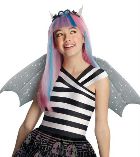 Rochelle Goyle Monster High Langhaar Kinderperücke Lizenzware bunt Einheitsgröße