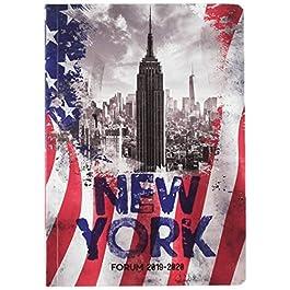Exacompta 1842911E – Agenda 1 giorno per pagina, 12 x 17 cm, agosto 2019 a luglio 2020, Country FlAgenda New York