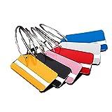 Étiquettes de valises(6 Pcs),étiquette d'identification de Bagages en métal,Marque du Coffre dans l'école Identifier Le Sac ID Nom Bureau Voyage Accessories.