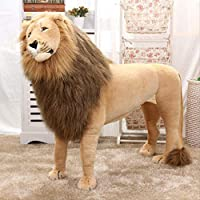 hzbftoy Soft Plush Toy,Simulaiton Lion Toy,Super Soft Cuddly Ideal For Baby Or Children Of All Ages,110X80Cm
