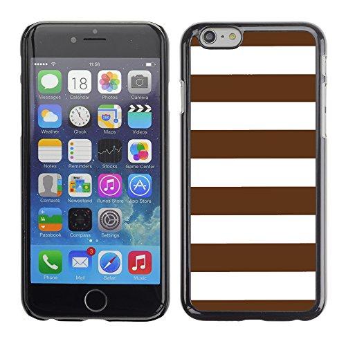 Graphic4You Color Stripes Farbstreifen Muster Design Harte Hülle Case Tasche Schutzhülle für Apple iPhone 6 / 6S (Gelb) Braun